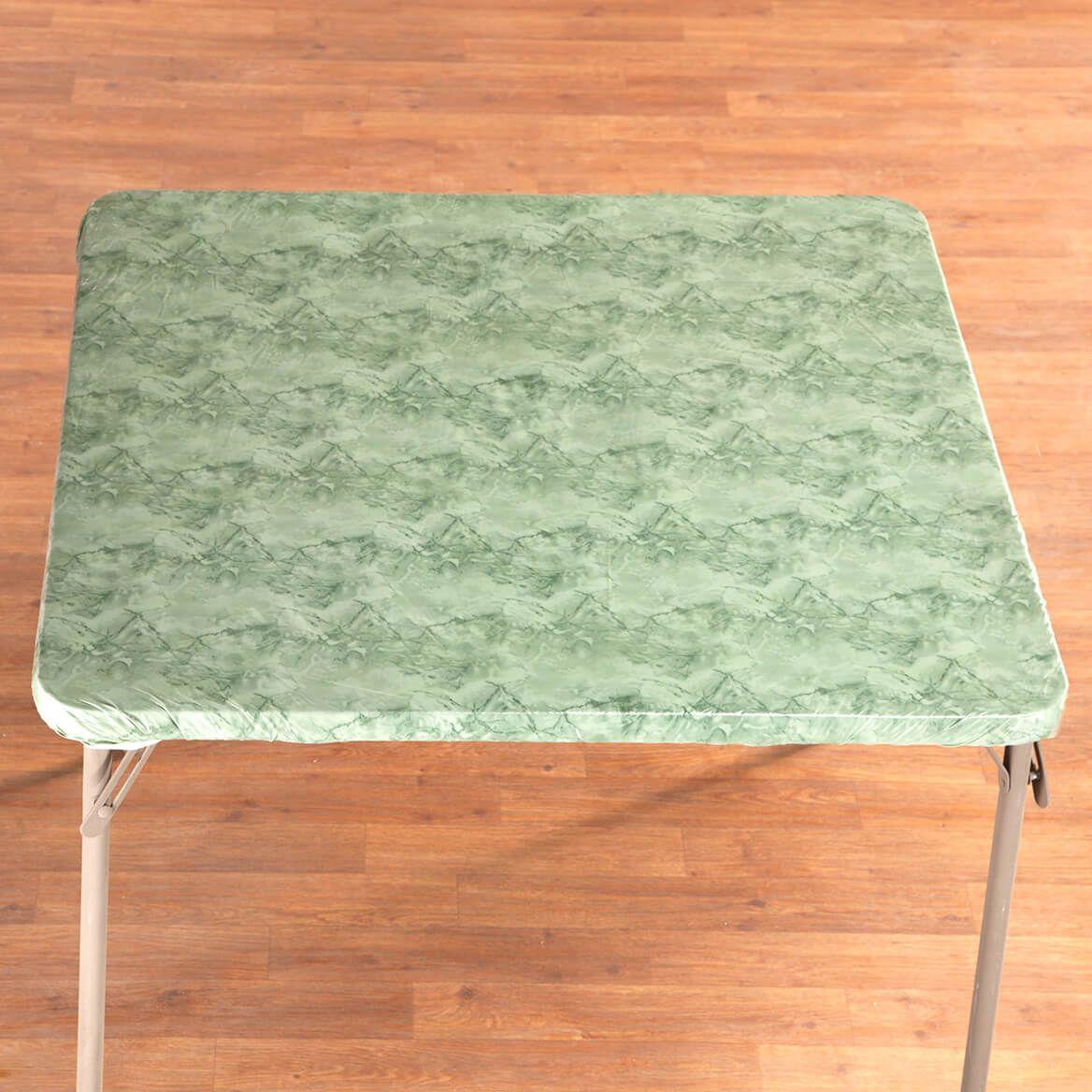 Marble Vinyl Elasticized Banquet Table Cover-356493