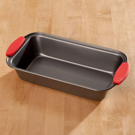 Loaf Pan with Red Silicone Handles by Home-Style Kitchen™-356750