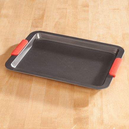 Baking Sheet with Red Silicone Handles by Home-Style Kitchen™-356752