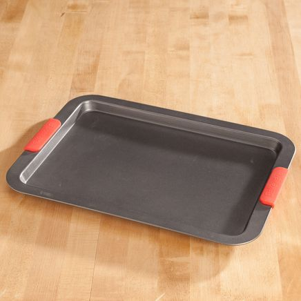 Large Baking Sheet with Red Silicone Handles by Home-Style Kitchen™-356753