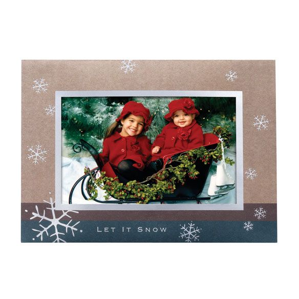 Let It Snow Photo Personalized Card Set of 18-356781