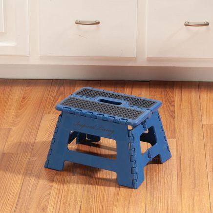 Blue 9 Inch Folding Step Stool-356932