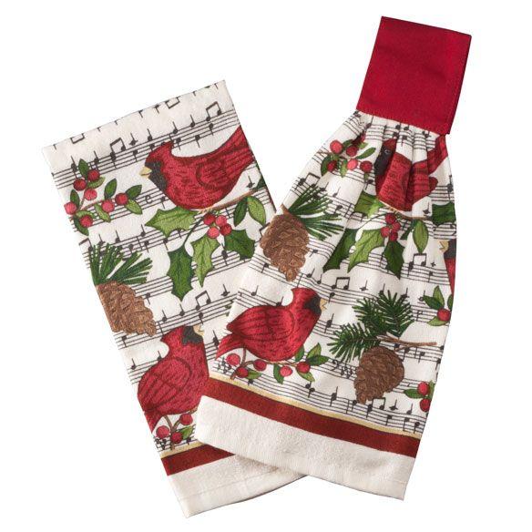 Cardinal Holiday Towel Set-356938