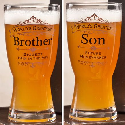 Personalized Insignia Beer Glass-357099