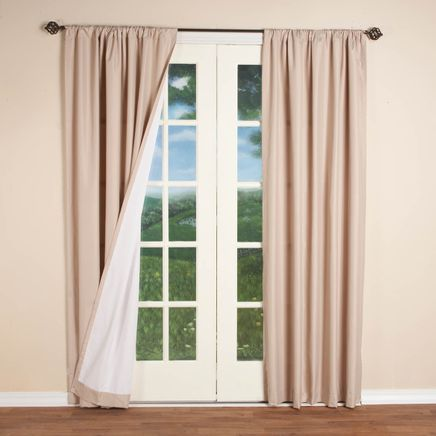 Microfiber Energy Saving Curtains-357338