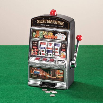 Large Slot Machine with Lights and Bank-357989
