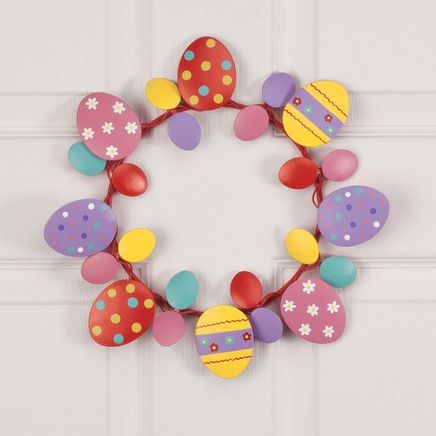 Metal Easter Egg Wreath by Fox River™ Creations-358081