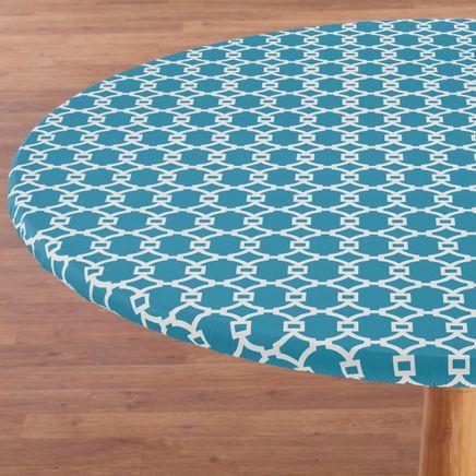 Lattice Vinyl Elasticized Table Cover-358458