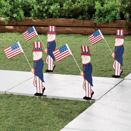 Uncle Sam Metal Yard Stakes by Fox River™ Creations, Set of 4-358763