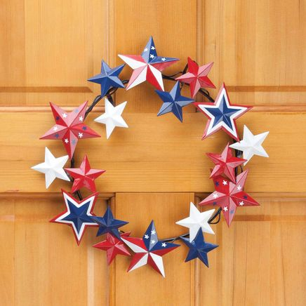 Metal American Barn Star Wreath by Fox River Creations™-359036