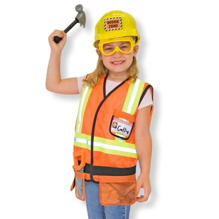 Melissa & Doug® Personalized Construction Worker Costume Set-359142