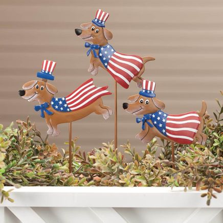 Metal Patriotic Dog Stakes by Fox River™ Creations, Set of 3-359387