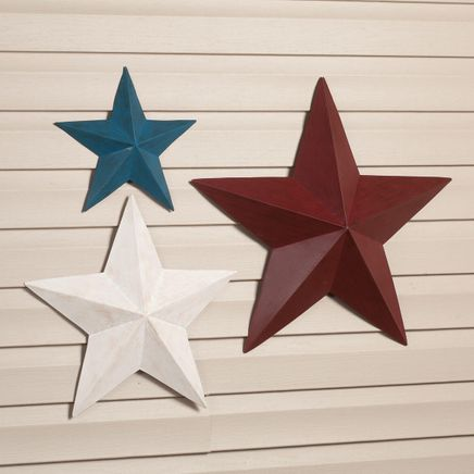 Red, White & Blue Barn Stars by Fox River™ Creations, Set of 3-359456