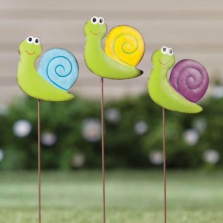 Metal Snail Stakes by Maple Lane Creations™, Set of 3-359501