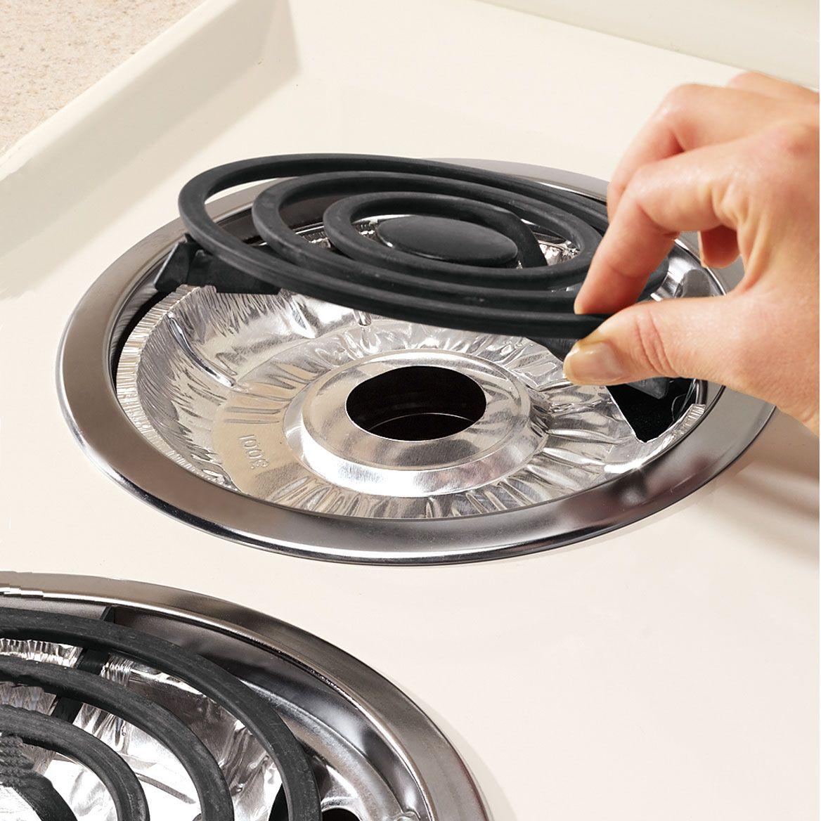 Gas Foil Burner Liners Round Set/10-359834