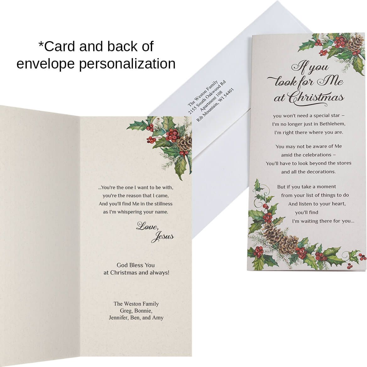 Personalized Looking for Jesus Christmas Card Set of 20-360175