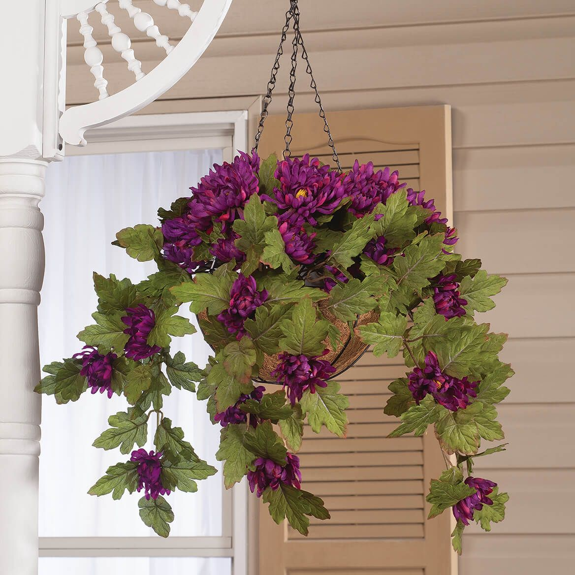 Fully Assembled Hanging Mum Basket by OakRidge™-360308