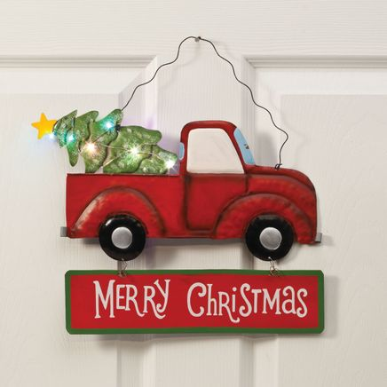 Lighted Merry Christmas Truck Sign by Fox River Creations™-360313