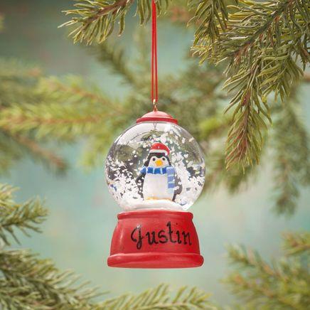 Personalized Penguin Waterglobe Ornament-360320