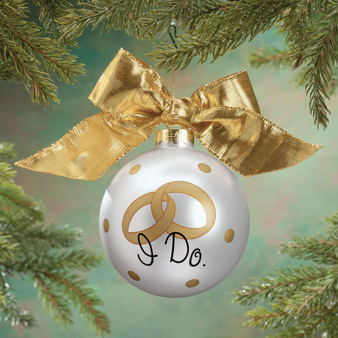 "Personalized ""I Do"" Glass Ball Ornament-360487"
