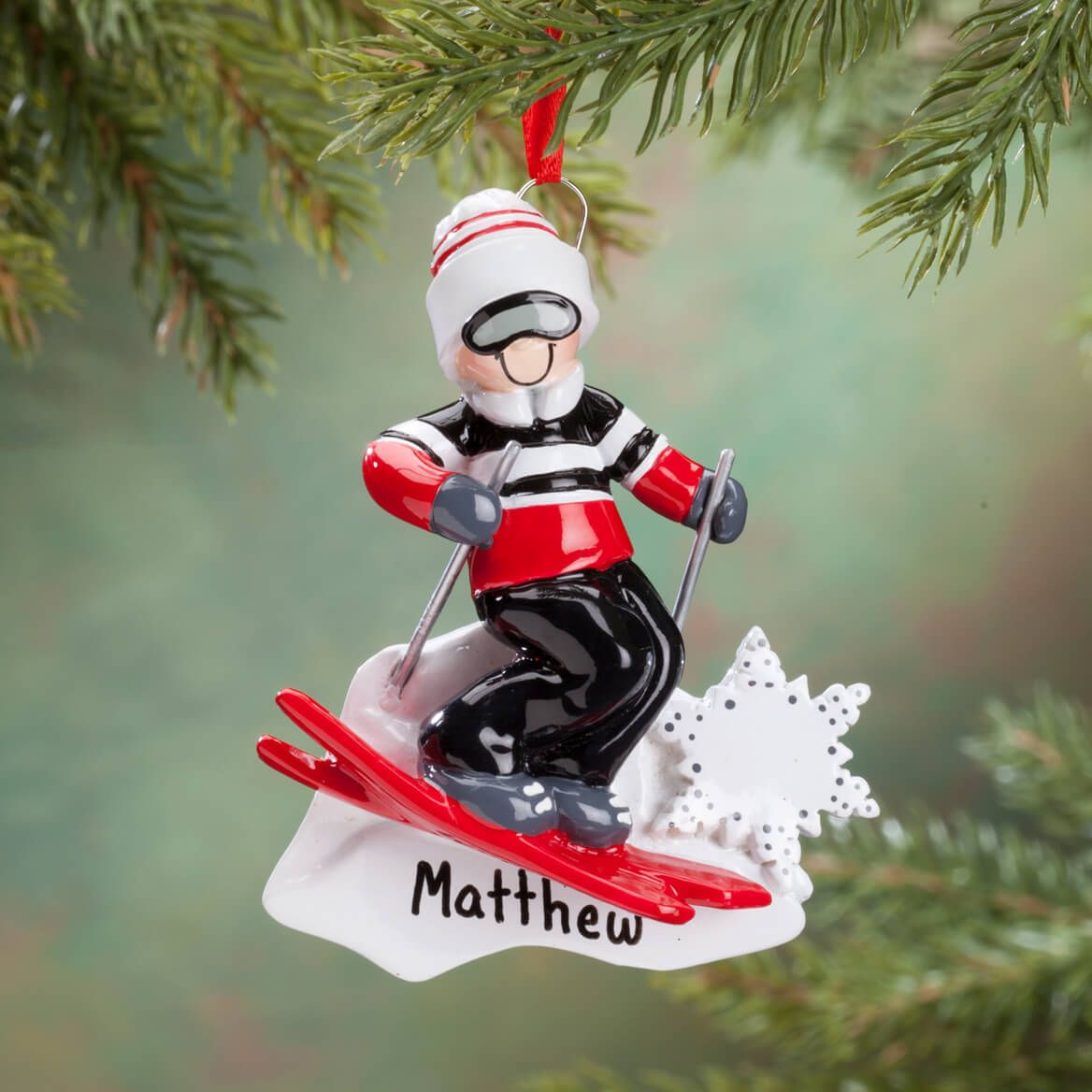 Personalized Skier Ornament-360535