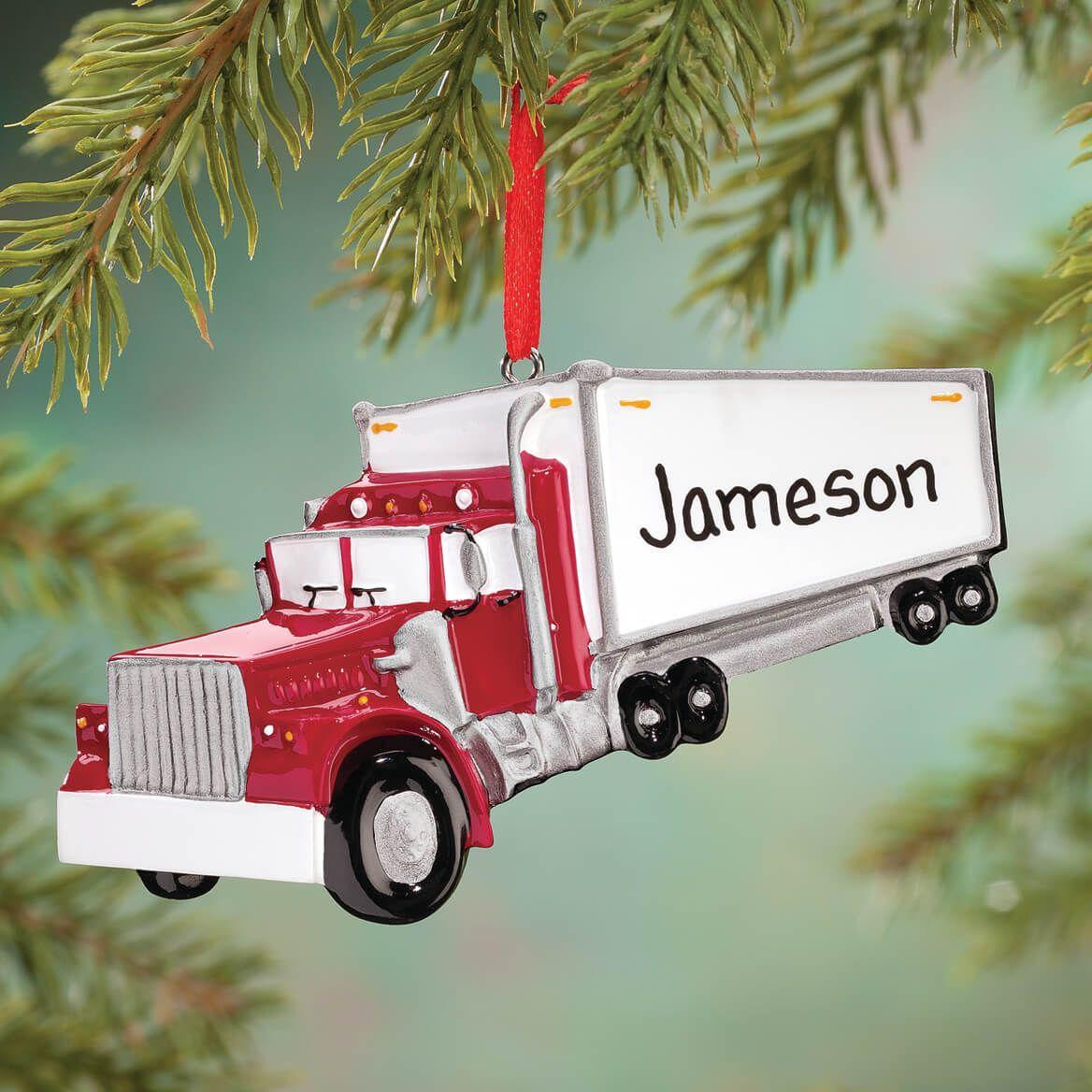 Personalized Semi Ornament-360901