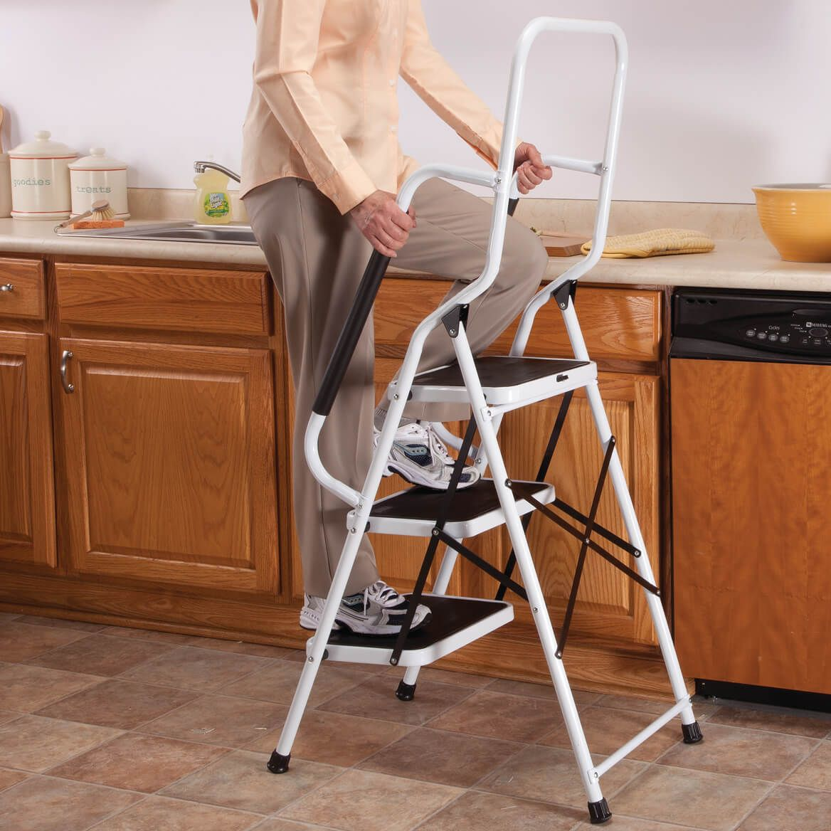 Step Ladder with Handles by LivingSURE™  XL-360948