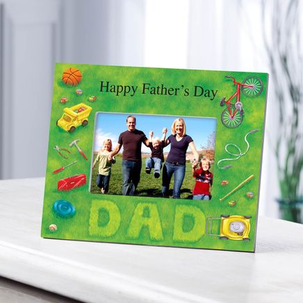 Personalized Photo Frame for Dad – Lawn Words Frame-361188