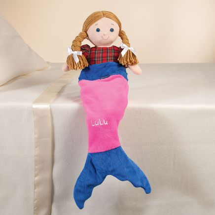 "Personalized Blankie Tails™ 18"" Doll Pink Mermaid Tail-361300"