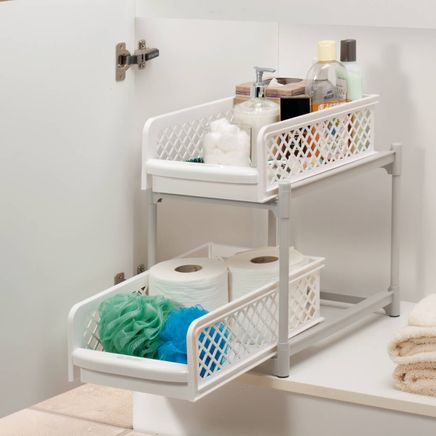 9-Inch Two-Tier Sliding Storage Drawers-361364