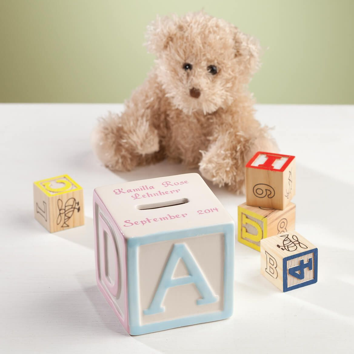 Personalized Alphabet Block Bank-361778