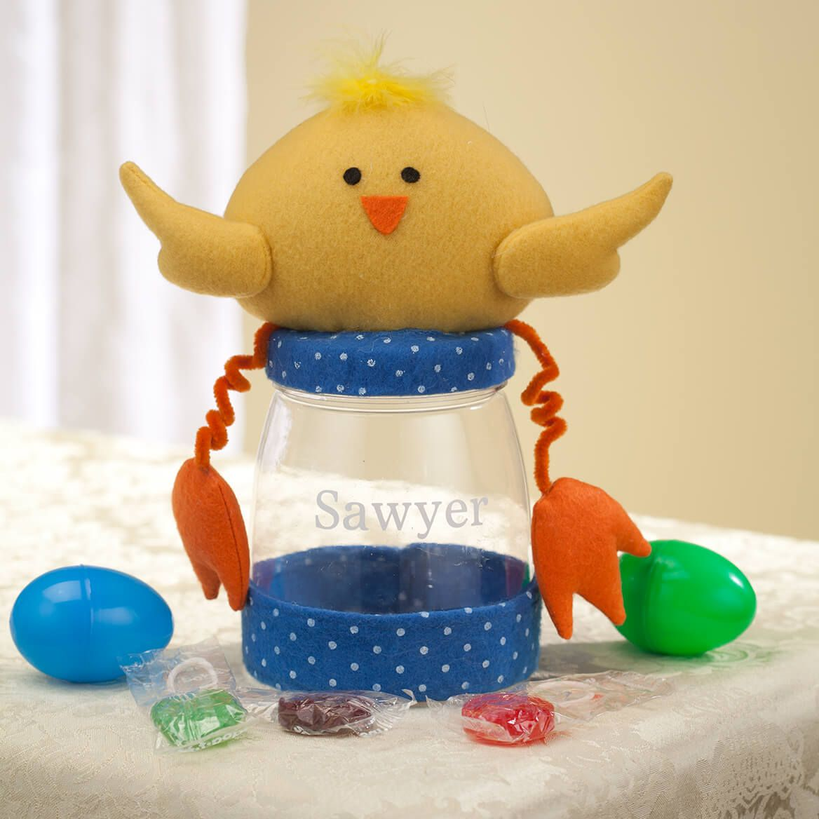Personalized Easter Chick Treat Jar-361812