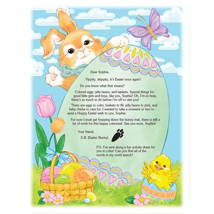 2020 Letter and Sheet of Stickers Gift From Easter Bunny-361913