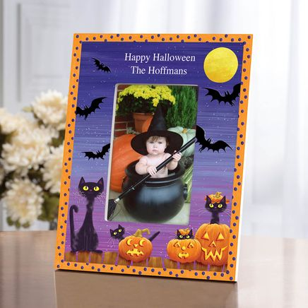 Personalized Cats, Bats and Boo Halloween Photo Frame-361933