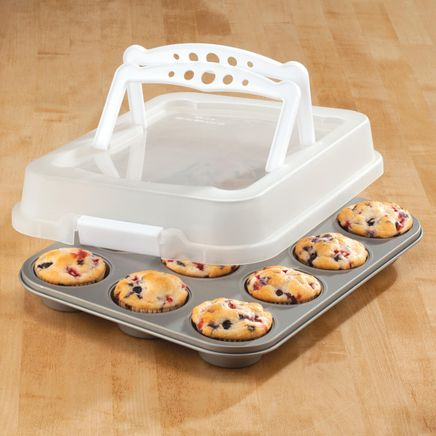 Covered 12 Cup Muffin Pan with Handles-362007