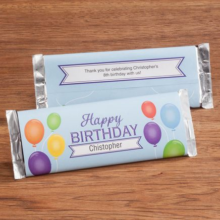 Personalized Candy Bar Wrappers Birthday Balloon Set of 24-362042