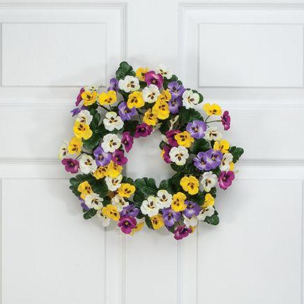 "14"" Pansy Wreath by Oakridge Outdoor™-362068"