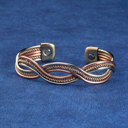 Magnetic Cuff Copper Braid Bracelet-362352