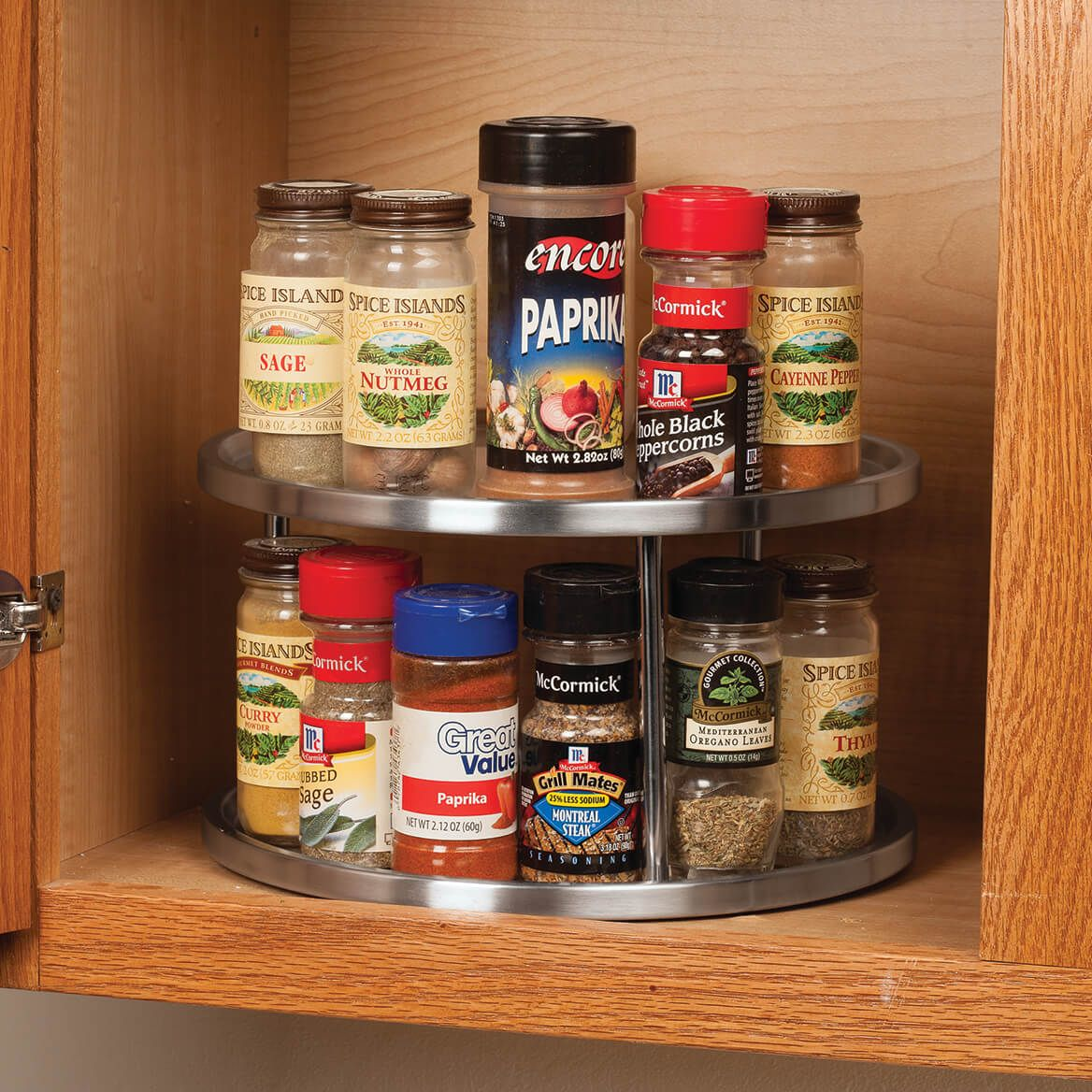 Two Tier Stainless Lazy Susan-362366