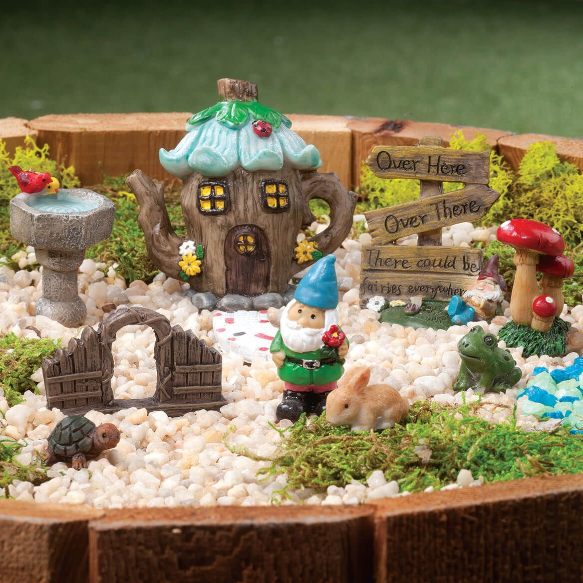 Resin Fairy Garden Set of 10-362416