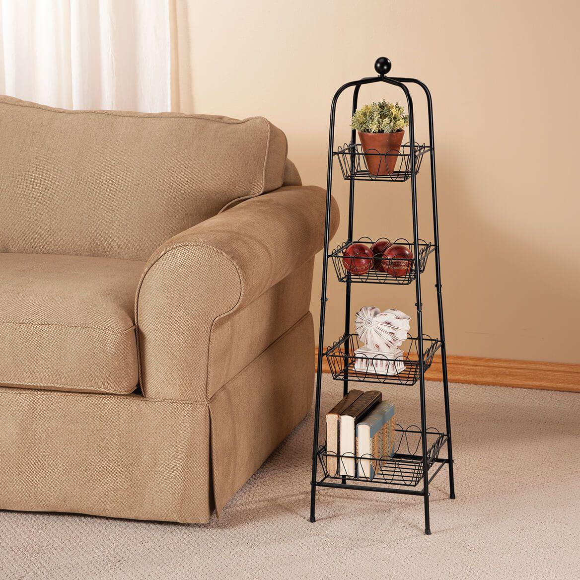 4-Tier Metal Basket Tower-362437