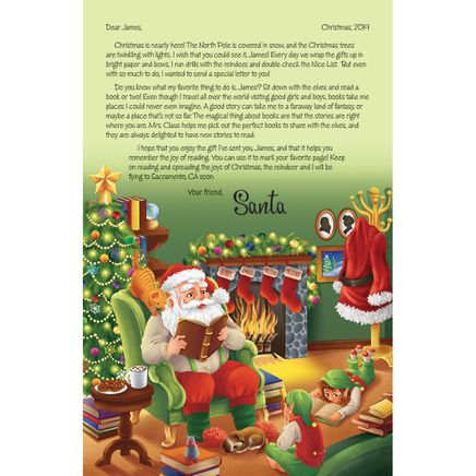 Personalized Santa Letter and 2 Personalized Bookmarks-362509