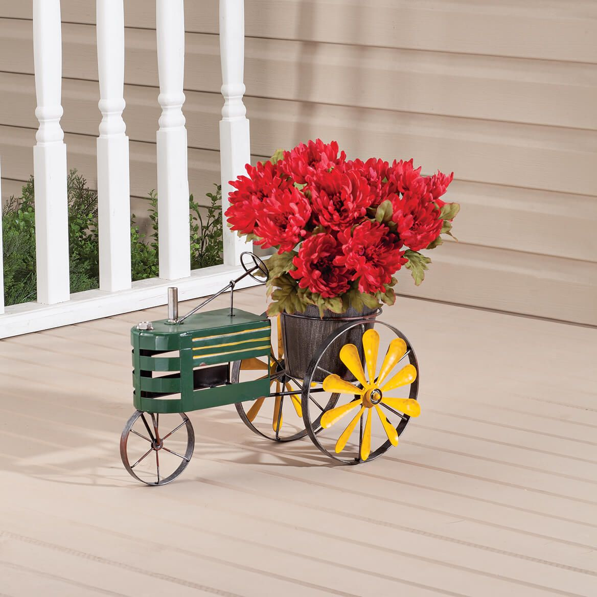 Metal Tractor Windmill Planter by Fox River Creations™-362539