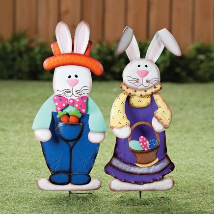 Metal Easter Bunny Boy and Girl by Fox River™ Creations-362579