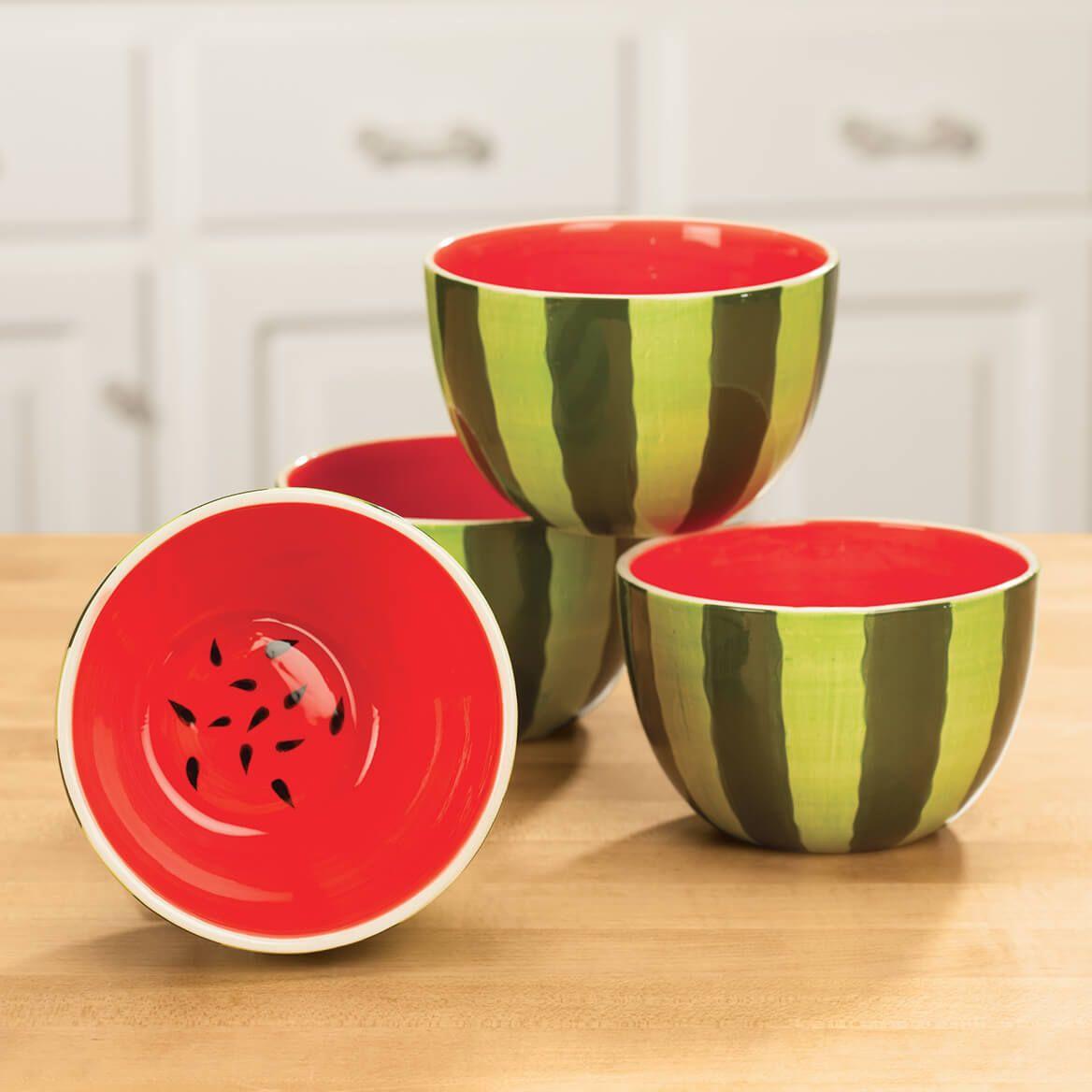 William Roberts Ceramic Watermelon Bowls Set of 4-362597