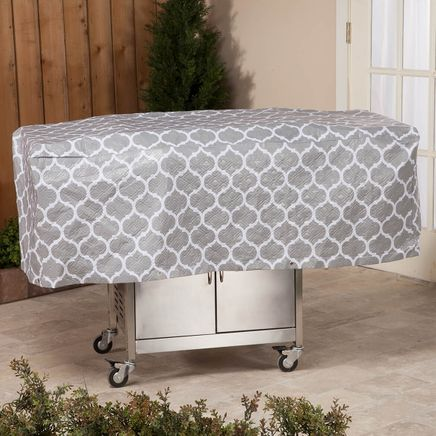 "Trellis Pattern Quilted BBQ Grill Cover, 54""L x 18""H x 22""W-362889"