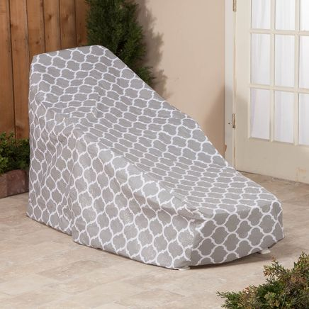 "Trellis Pattern Quilted Chaise Cover, 76"" L x 33"" H x 27"" W-362892"