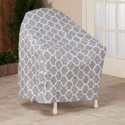 "Trellis Pattern Quilted Chair Cover, 33""L x 33""H x 27""W-362893"
