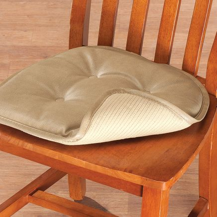 St. Germaine Faux Leather Chair Pad with Gripper-362925