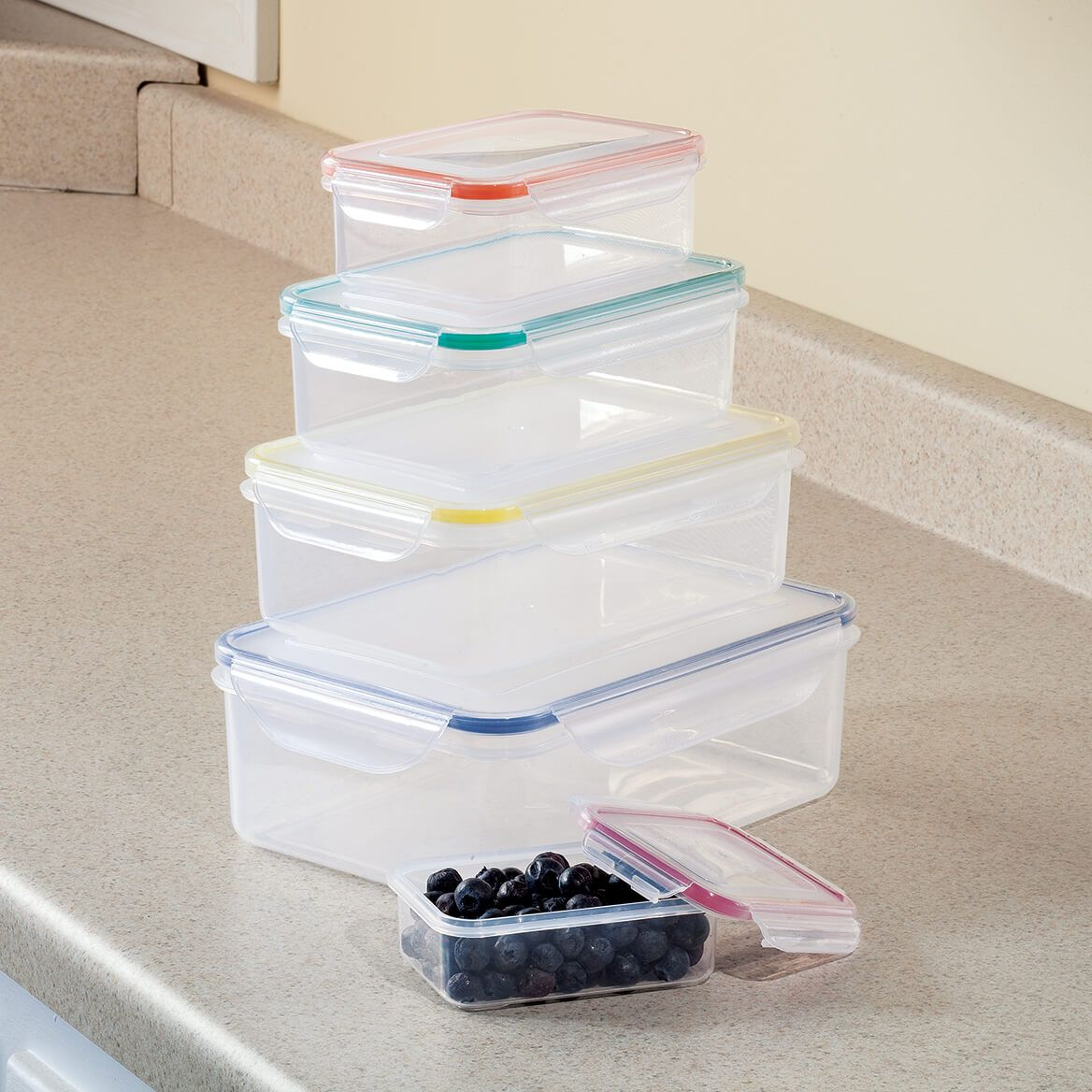 Memory Seal Silicone 10 Pc Storage Set by Homestyle Kitchen-363172